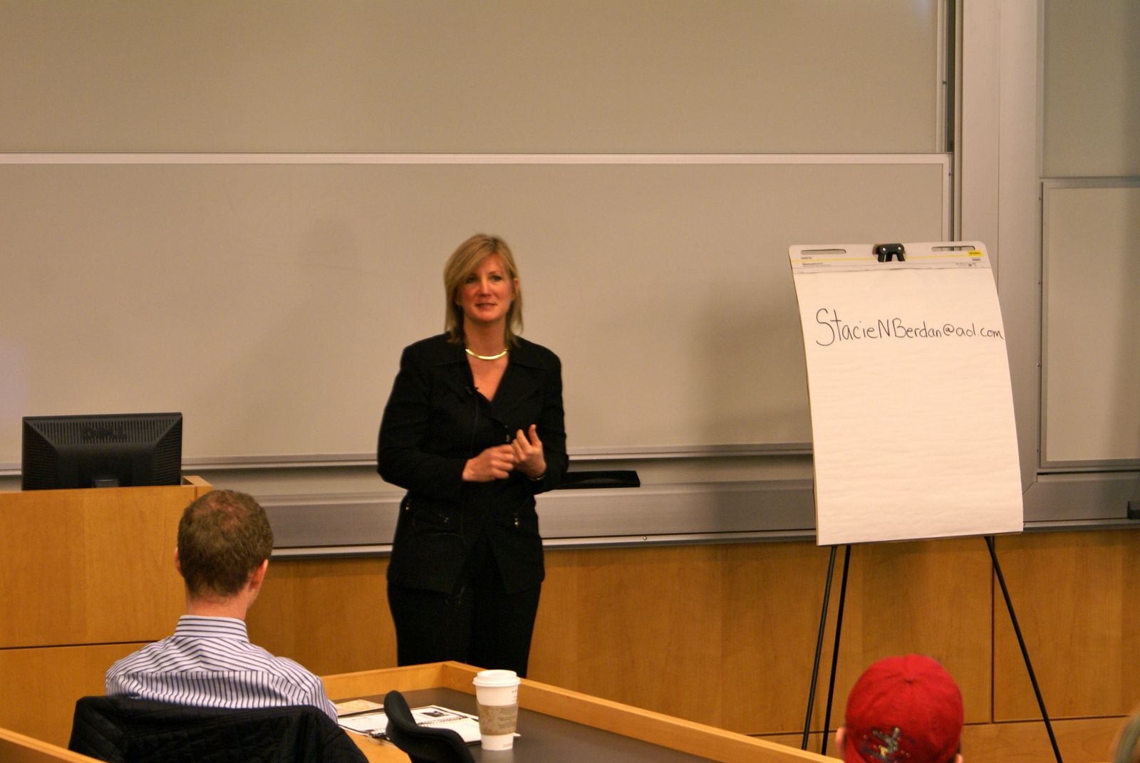 Stacie Berdan advises students on how to launch an international career.