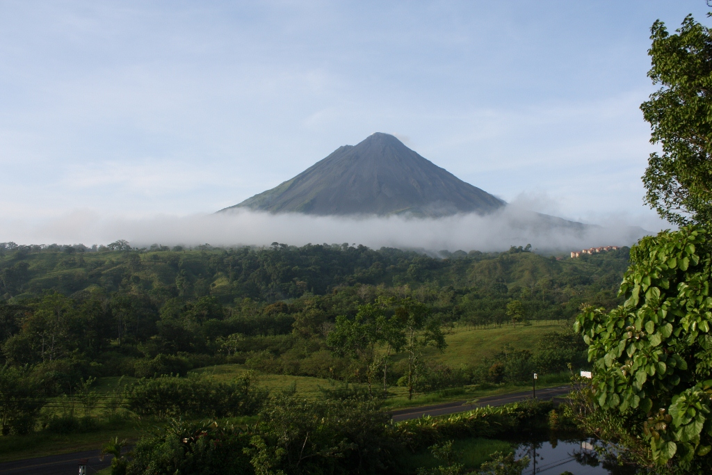 Stunning View of Arenal Volcano in Costa Rica