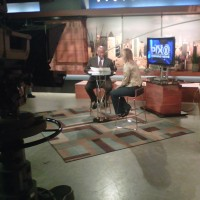 Stacie Berdan on the WPIX Set with Craig Treadwell