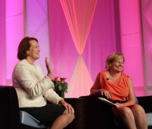 Karen Mills, administrator of the Small Business Administration, sits down for a Q&A with NAWBO President & CEO Diane Tomb