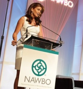 Keynote speaker Kathy Ireland at the podium