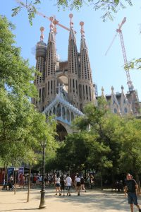 ... or the still under-construction Sagrada Família, a monumental Catholic church